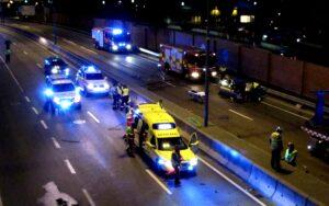 illustrasjon av trafikkulykke