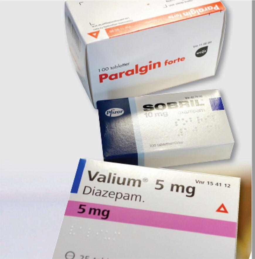 Trafikkfarlige legemidler med varseltrekant