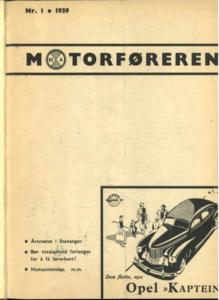 Motorføreren 1 1939